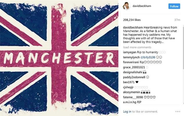 Beckham, Ronaldo... tưởng niệm nạn nhân trong vụ nổ bom ở Manchester - Ảnh 2.