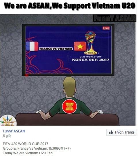 Fan nước ngoài khích lệ tinh thần U20 Việt Nam - Ảnh 3.