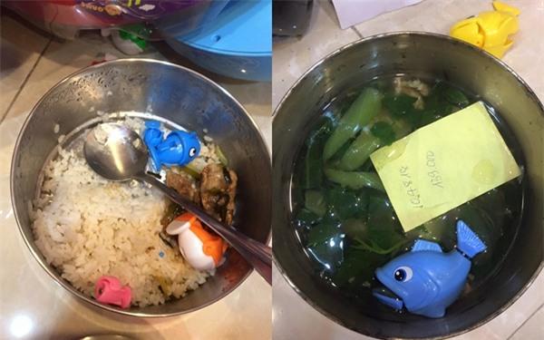 Bữa cơm với đặc sản canh mồng tơi cá nhựa của đầu bếp nhí siêu đáng yêu gây sốt mạng - Ảnh 1.