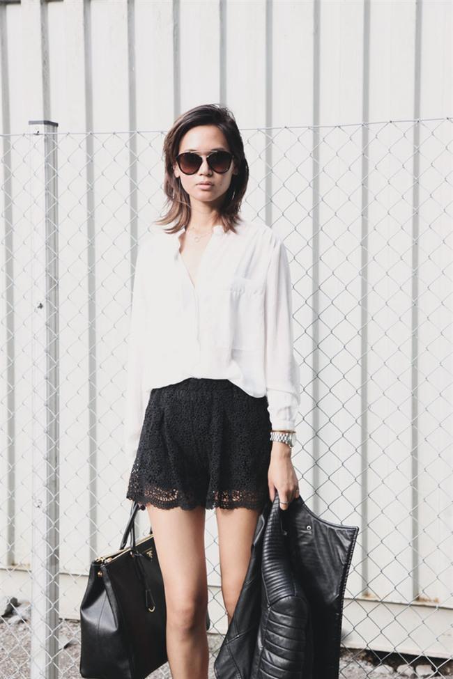 Đâu cần diện váy, cứ mặc quần short cách điệu là bạn đã nữ tính hết nấc - Ảnh 20.