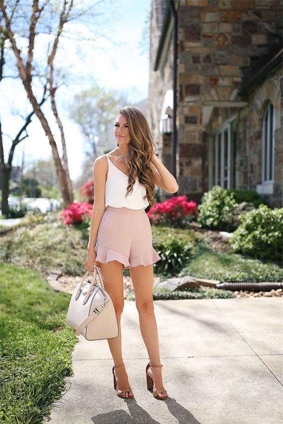 Đâu cần diện váy, cứ mặc quần short cách điệu là bạn đã nữ tính hết nấc - Ảnh 8.