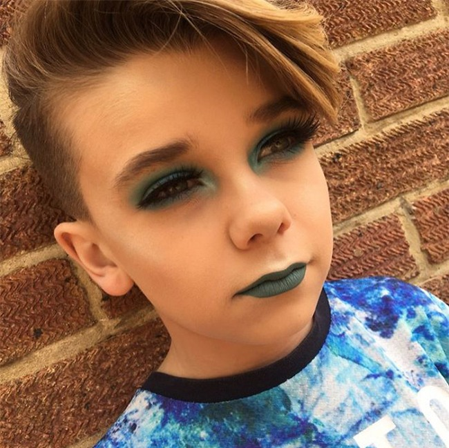 Bé trai 10 tuổi khiến các cô nàng điêu đứng vì tài trang điểm chuyên nghiệp thành thần - Ảnh 3.