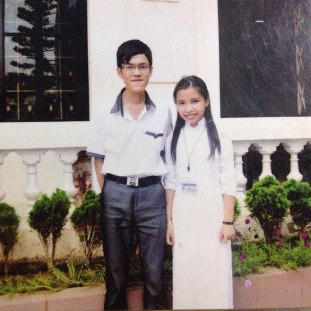 Anh Vũ Đình Thục và chị Ngô Thu Thảo lúc học cấp 3.
