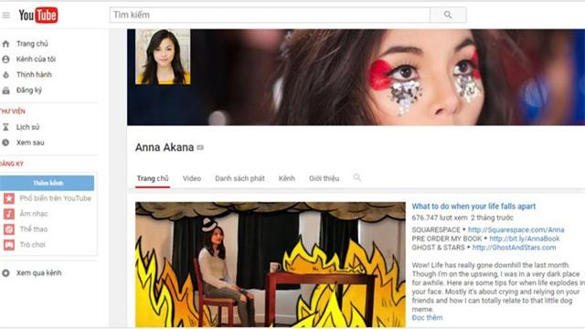 Kênh YouTube của Anna Akana hiện thu hút hơn 1,8 triệu người đăng ký theo dõi.
