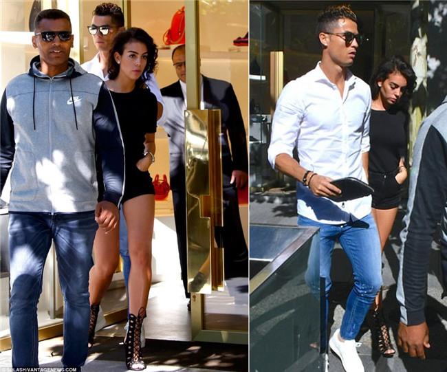 Ronaldo dua ban gai di sam do truoc chung ket hinh anh 1