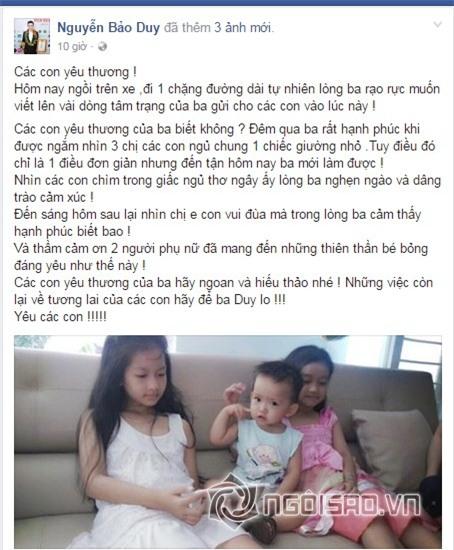 Phi Thanh Vân, chồng cũ Phi Thanh Vân, Bảo Duy