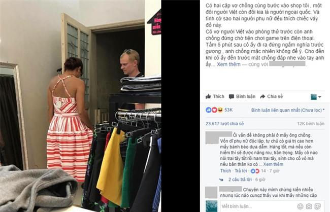 Hai cặp vợ chồng, một chiếc váy và hành xử khiến đàn ông Việt mất điểm - Ảnh 1.