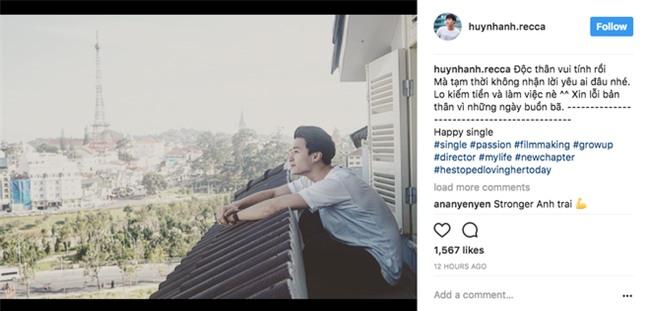 Sau 3 năm yêu Hoàng Oanh, Huỳnh Anh bất ngờ đăng status thông báo đang độc thân - Ảnh 1.
