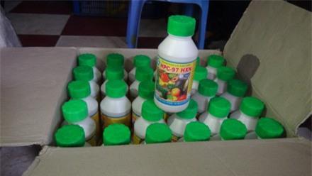 Số hóa chất được dùng để ngâm ép chín trái cây.