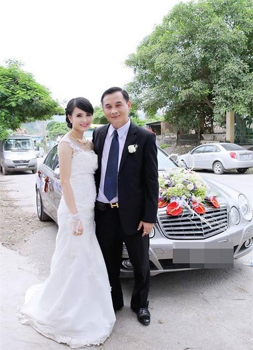 Em gái Công Vinh kết hôn năm 2014 và có một con gái
