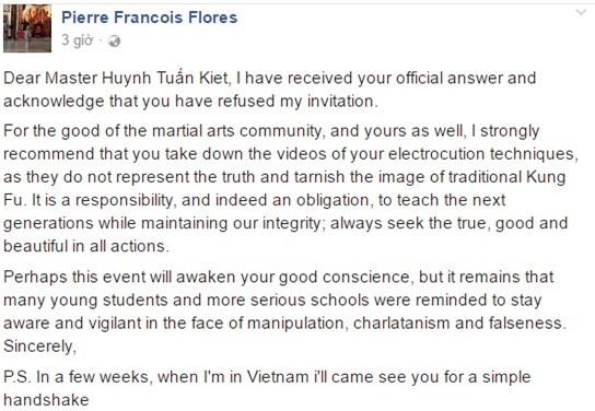 Flores de nghi chuong mon Nam Huynh Dao go clip truyen dien hinh anh 1