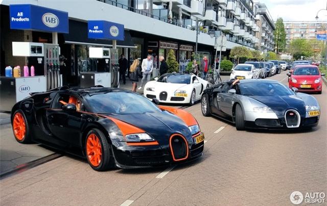 Dàn Bugatti siêu khủng gây náo loạn tại con phố Hà Lan - Ảnh 3.