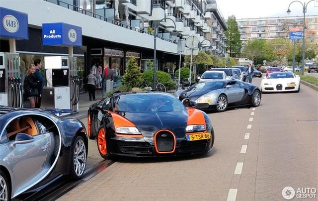 Dàn Bugatti siêu khủng gây náo loạn tại con phố Hà Lan - Ảnh 6.