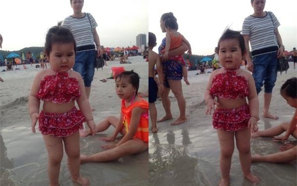 Bé gái siêu đáng yêu khóc tu tu trong lần đầu đi biển vì bẩn hết chân con khiến các mẹ không thể nhịn cười - Ảnh 3.