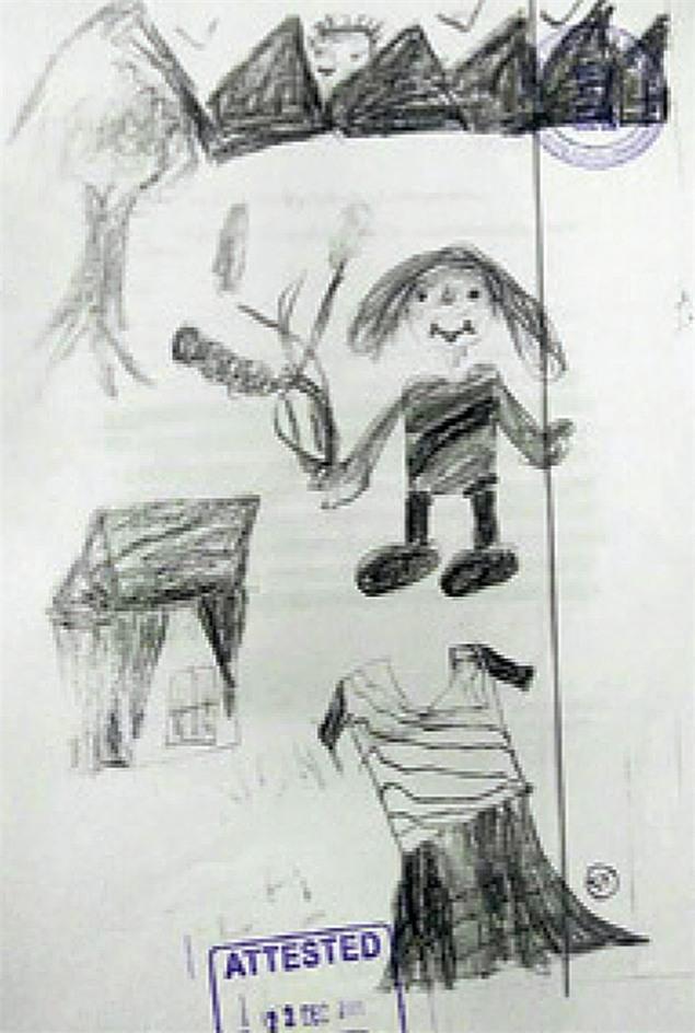 Bức vẽ nguệch ngoạc của cô bé 10 tuổi vạch trần người chú mất nhân tính, xâm hại tình dục cháu gái - Ảnh 1.