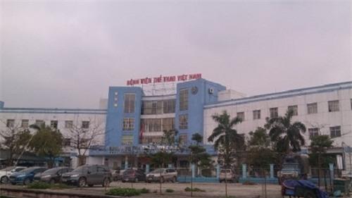 Bệnh viện Thể thao Việt Nam nơi xảy ra sự việc