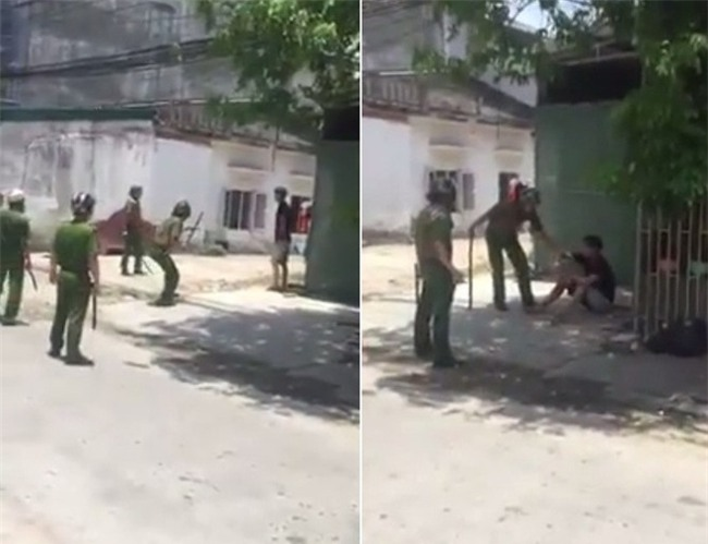 Clip: Hàng chục cảnh sát bao vây, thuyết phục thanh niên nghi ngáo đá đang cầm dao đe dọa người dân - Ảnh 2.