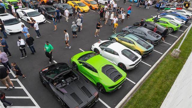 12 chiếc siêu xe hàng hiếm Lamborghini Aventador SV đủ màu sắc xuất hiện tại Mỹ - Ảnh 2.