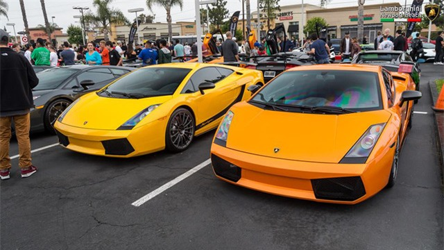 12 chiếc siêu xe hàng hiếm Lamborghini Aventador SV đủ màu sắc xuất hiện tại Mỹ - Ảnh 16.
