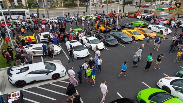 12 chiếc siêu xe hàng hiếm Lamborghini Aventador SV đủ màu sắc xuất hiện tại Mỹ - Ảnh 4.