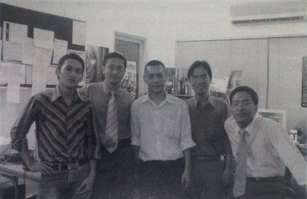 Cao Toàn Mỹ là một trong những thành viên sáng lập Vinagame, tiền thân của VNG hiện nay (đứng thứ 2 từ trái sang).
