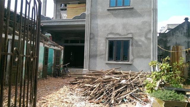 Ngôi nhà mới xây của Vinh. Ảnh: Đình Việt