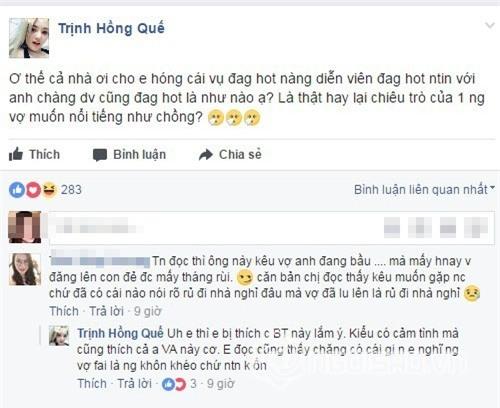 Hong Que che vo Viet Anh khong khon kheo, 'tre trau' khi to 'nguoi thu ba' ve van chong