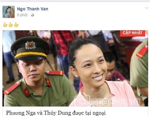 Sao Viet dong loat chuc mung khi Hoa hau Phuong Nga duoc tai ngoai