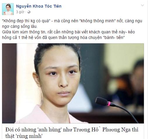 Tóc Tiên: Tôi buồn khi nhiều người tung hô Trương Hồ Phương Nga như anh hùng - Ảnh 1.