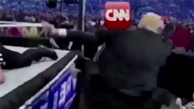 Bao chi phan no vu ong Trump dang video dam thuc mang CNN hinh anh 2