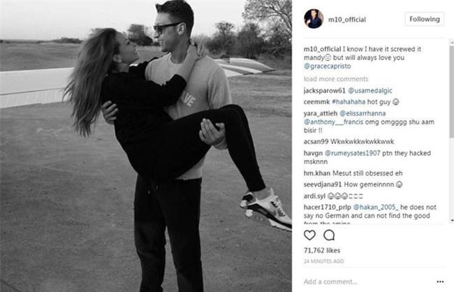Ozil bị hack tài khoản Instagram, đăng hình tình cảm với bạn gái cũ - Ảnh 1.