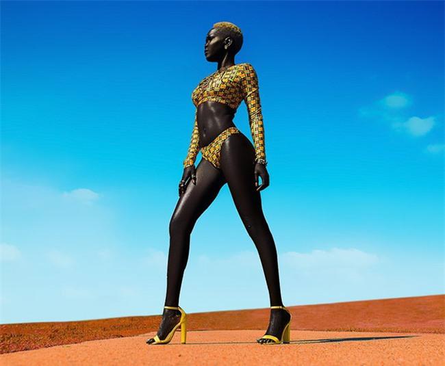 """Từng bị mỉa mai với làn da """"đen hơn than"""", cô gái trở thành hiện tượng lạ khuấy đảo làng thời trang - Ảnh 4."""