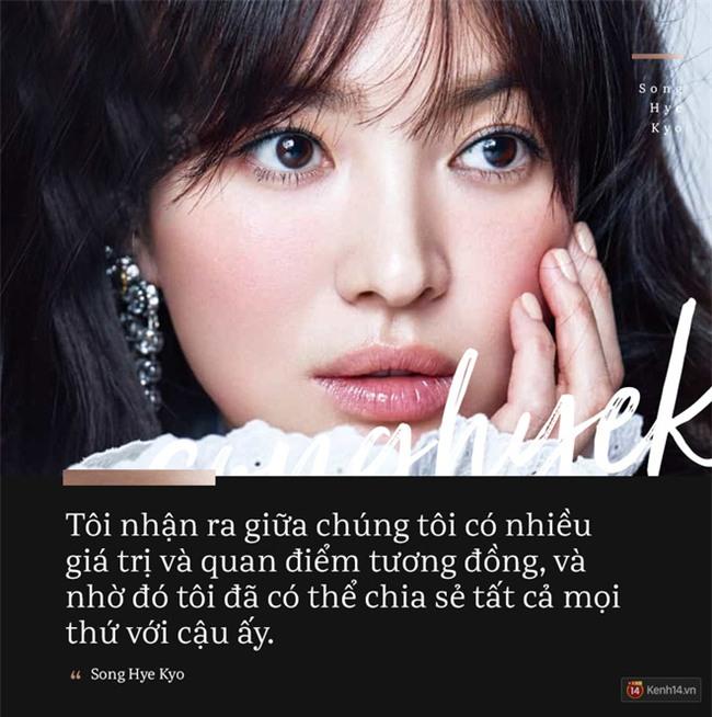 Song Hye Kyo tiết lộ lý do đã trao trọn trái tim cho Song Joong Ki! - Ảnh 1.