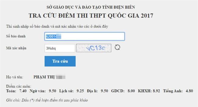 Tra cuu diem thi THPT quoc gia 2017 hinh anh 2