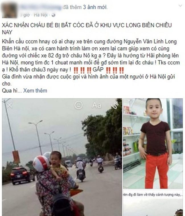 Cộng đồng truy tìm hình ảnh em bé khóc trên đường nghi là bé trai 6 tuổi mất tích ở Quảng Bình - Ảnh 1.