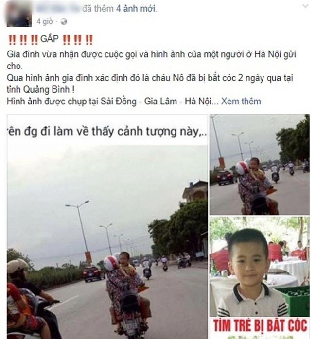 Cộng đồng truy tìm hình ảnh em bé khóc trên đường nghi là bé trai 6 tuổi mất tích ở Quảng Bình - Ảnh 2.