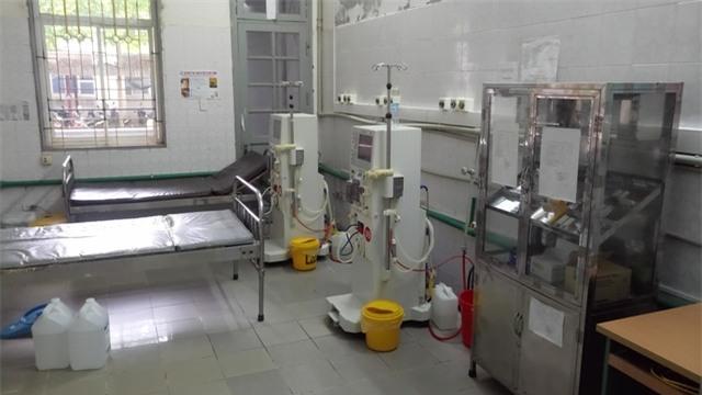 Những chiếc giường mà 18 bệnh nhân chạy thận từng nằm