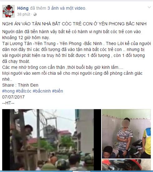Bắc Ninh: Hàng trăm cảnh sát giải cứu thanh niên lạ mặt bị dân vây vì nghi bắt cóc - Ảnh 1.