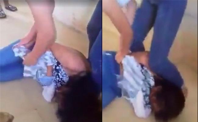 Nữ sinh THCS đánh nhau, lột đồ ngay giữa lớp học