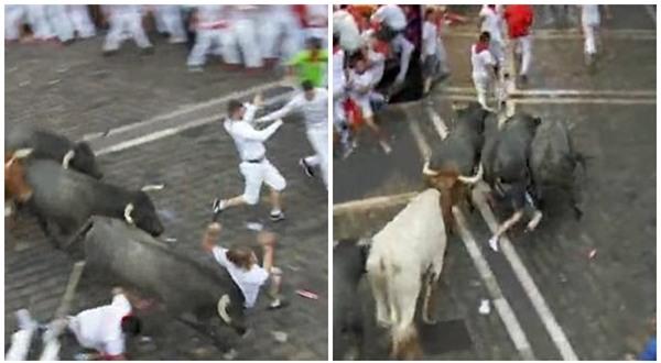 Tây Ban Nha: Hàng loạt du khách bị húc trọng thương trong lễ hội bò tót - Ảnh 3.