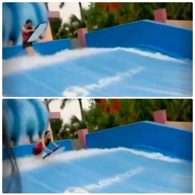 Du thuyền ác nhất thế giới: 2 cô gái chơi bể sóng nhân tạo bị đánh tụt quần - Ảnh 3.