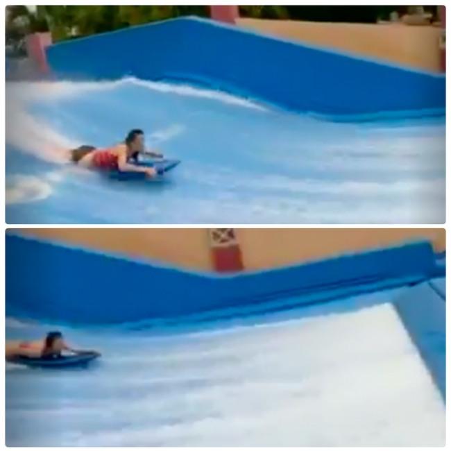 Du thuyền ác nhất thế giới: 2 cô gái chơi bể sóng nhân tạo bị đánh tụt quần - Ảnh 4.
