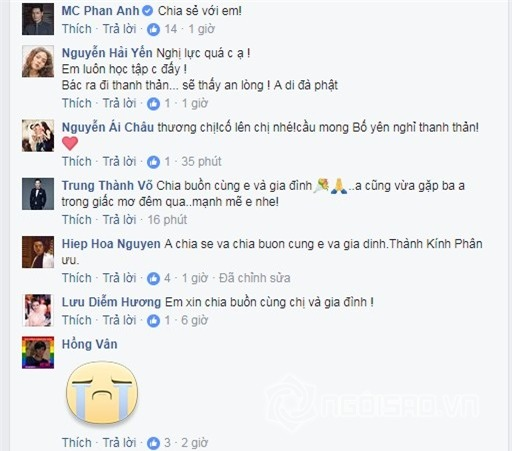 Ốc Thanh Vân, MC Ốc Thanh Vân, bố Ốc Thanh Vân, bố Ốc Thanh Vân qua đời