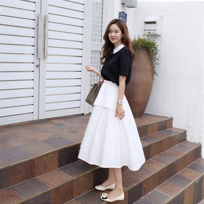 Muốn mặc đẹp như fashionista châu Á, hãy cứ trung thành với phong cách đơn giản! - Ảnh 1.