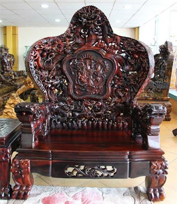 Bộ ghế salon gỗ Trắc Cửu Long Bát , bộ bàn ghế đắt nhất việt nam,bộ bàn ghế lớn nhất việt nam