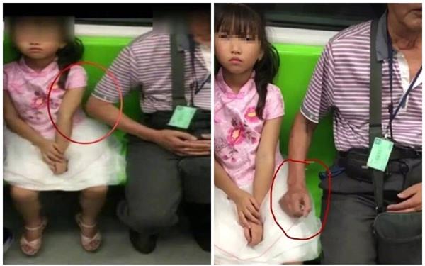 Choáng váng cảnh một người đàn ông lớn tuổi rình mò sàm sỡ bé gái trên xe buýt - Ảnh 1.