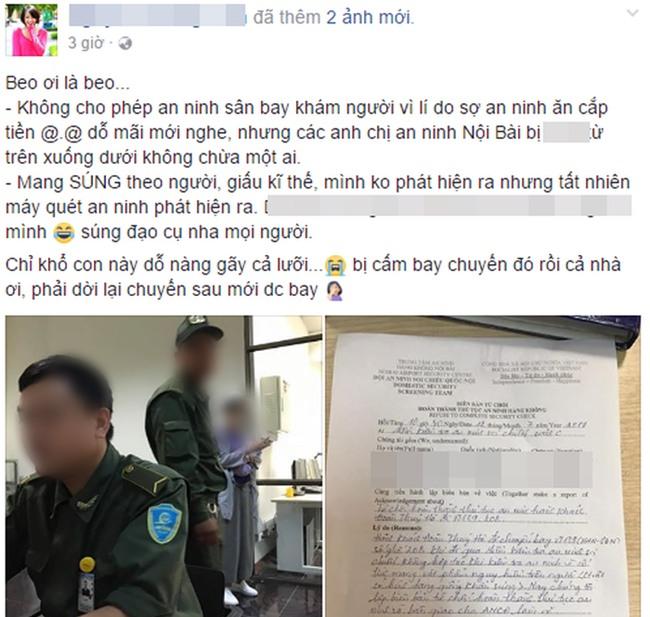 Hot girl Bella bị an ninh sân bay Nội Bài giữ lại vì mang theo... súng giả - Ảnh 1.