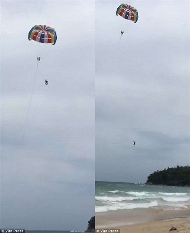 Thái Lan: Vợ vô tình quay lại toàn cảnh chồng thiệt mạng vì chơi dù bay trong kỳ nghỉ dưỡng ở Phuket - Ảnh 5.