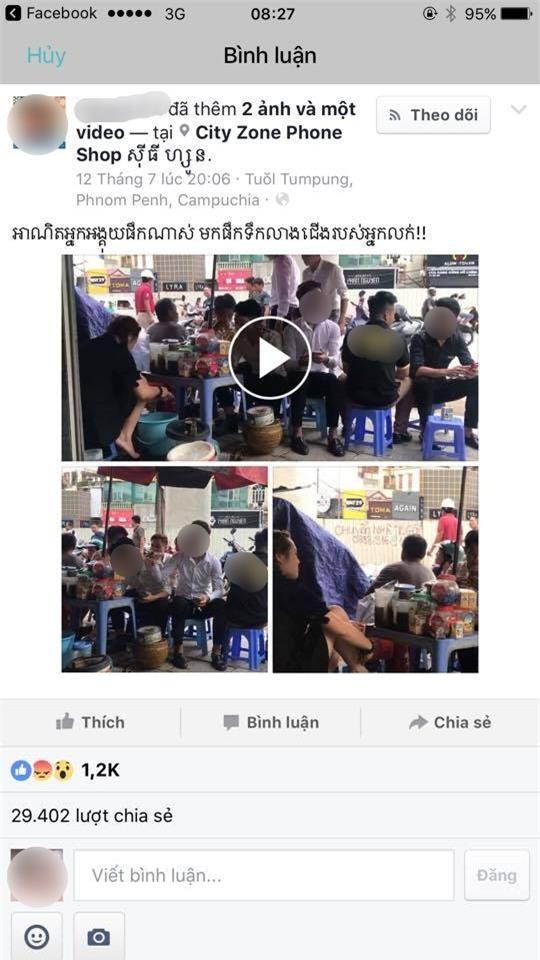 Vụ rửa chân trong xô trà đá: Phản ứng không ngờ từ mạng xã hội nước ngoài - Ảnh 2.
