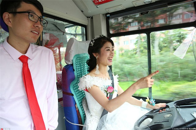 xe buýt, cô dâu, bảo vệ môi trường